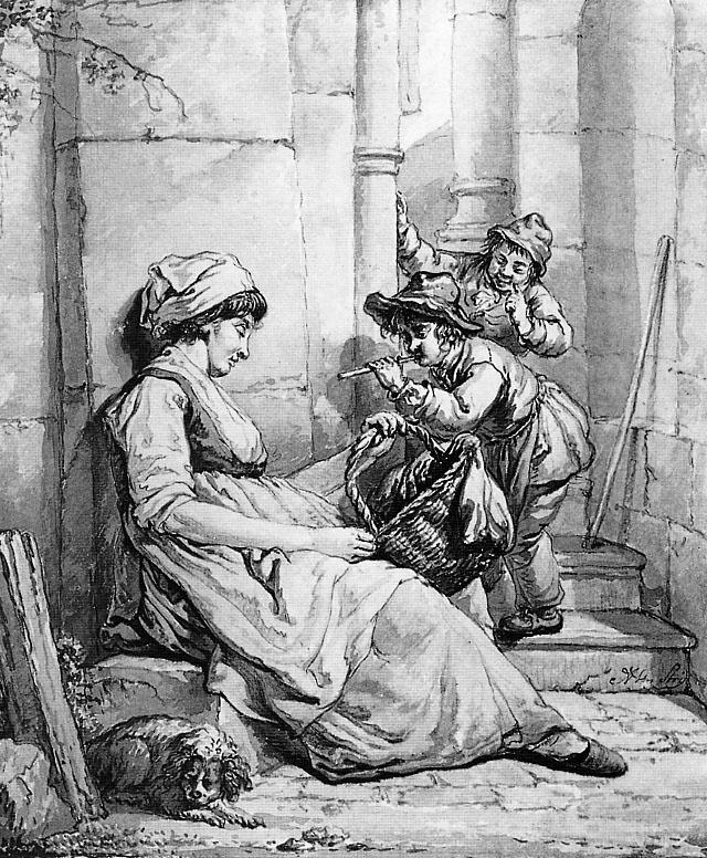 Абрахам ван Стрий. Спящую женщину дразнят два мальчика