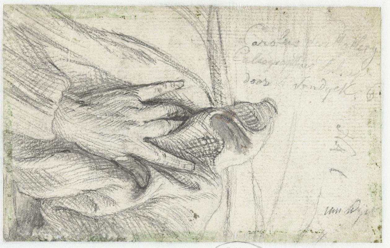 Anthony van Dyck. The left hand of Karel van Mallery