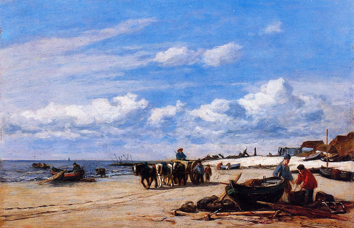 Eugene Boudin. In the vicinity of Honfleur