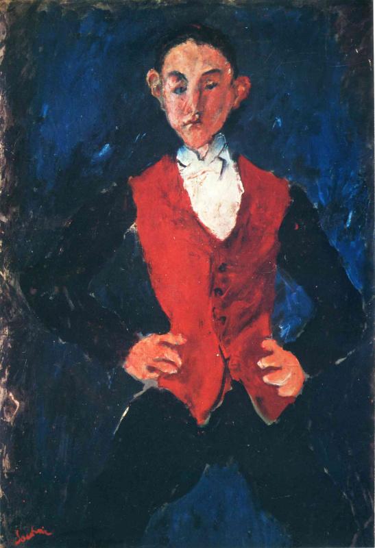 Хаим Соломонович Сутин. Красный жилет