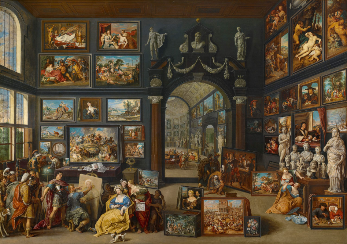 Willem van Haecht. Аппелес пишет портрет Кампаспы