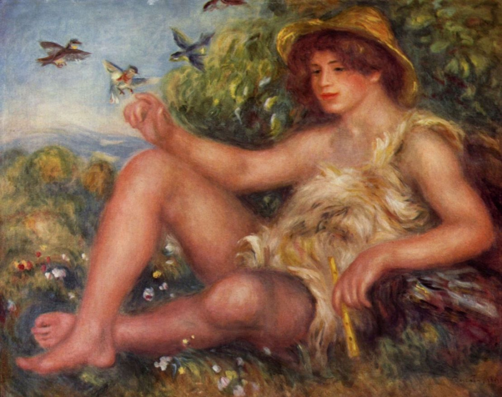 Pierre-Auguste Renoir. Portrait of Alexander Tournissan in the form of cowgirl