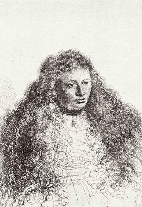 Рембрандт Ван Рейн. Женщина с распущенными волосами