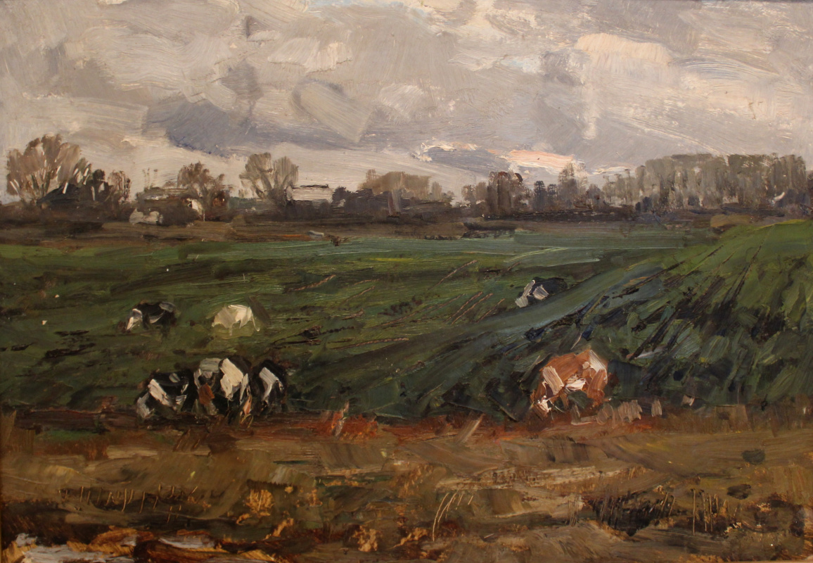 Boris Pavlovich Shagin. On pasture