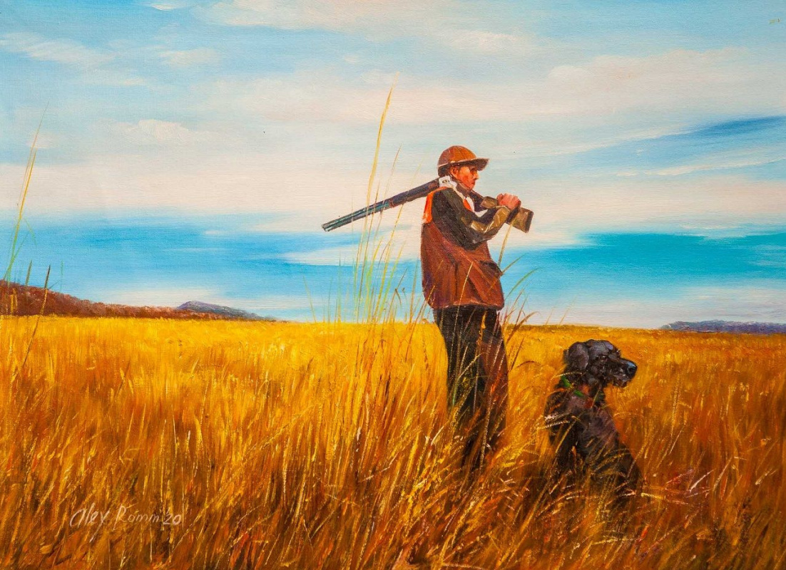 Alexander Romm. Hunting with a faithful friend