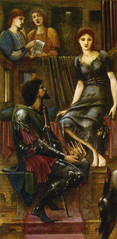 Эдвард Коли Бёрн-Джонс. Король Кофетуа и нищенка (этюд)