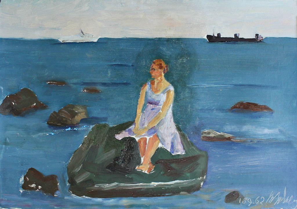 Vladimir Vladimirovich Kuznetsov. Girl on the stone