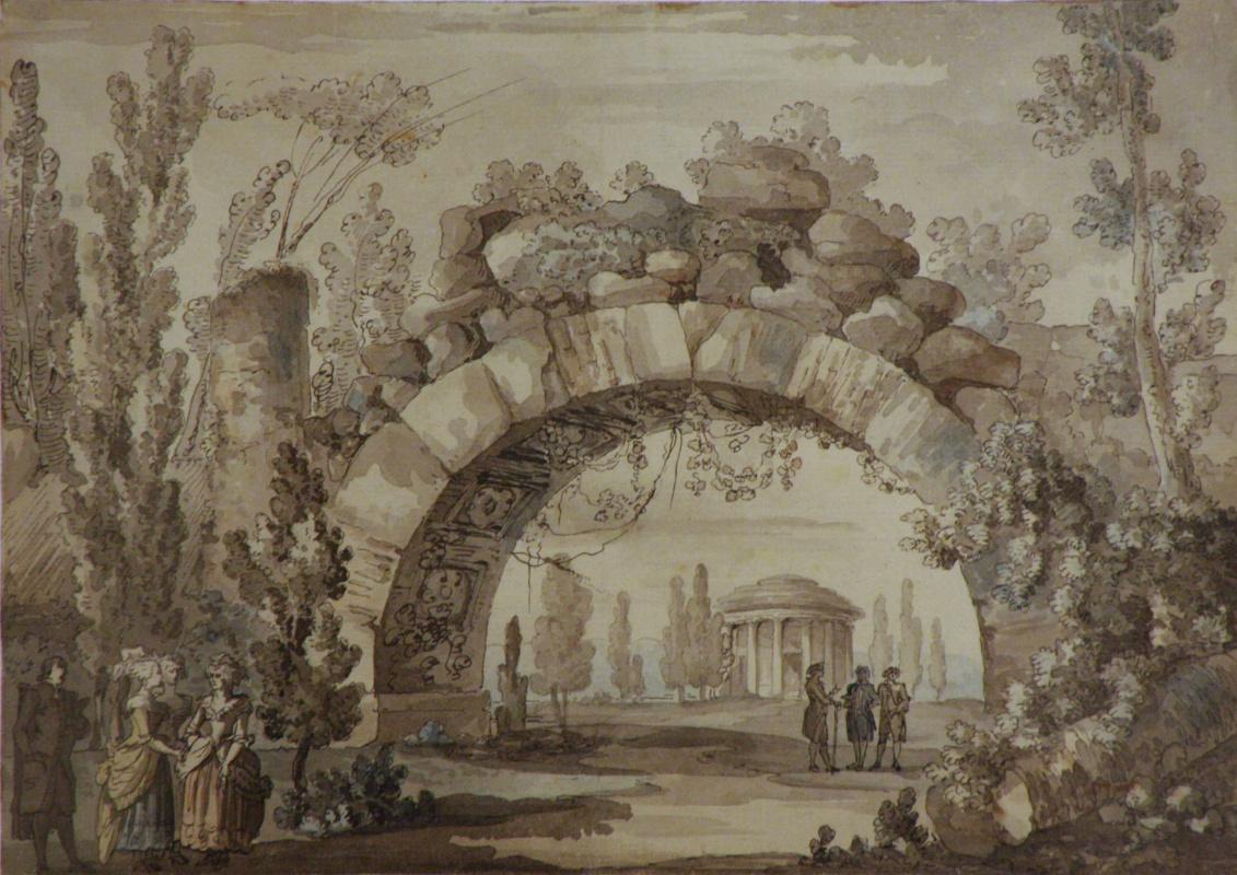 Джакомо Кваренги. Парковый пейзаж с аркой