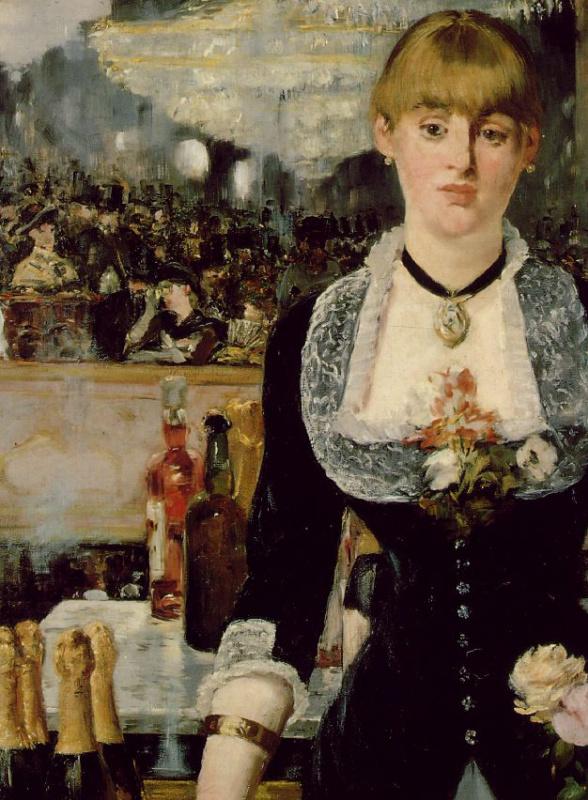 Edouard Manet. Bar at the Folies-bergère, a fragment