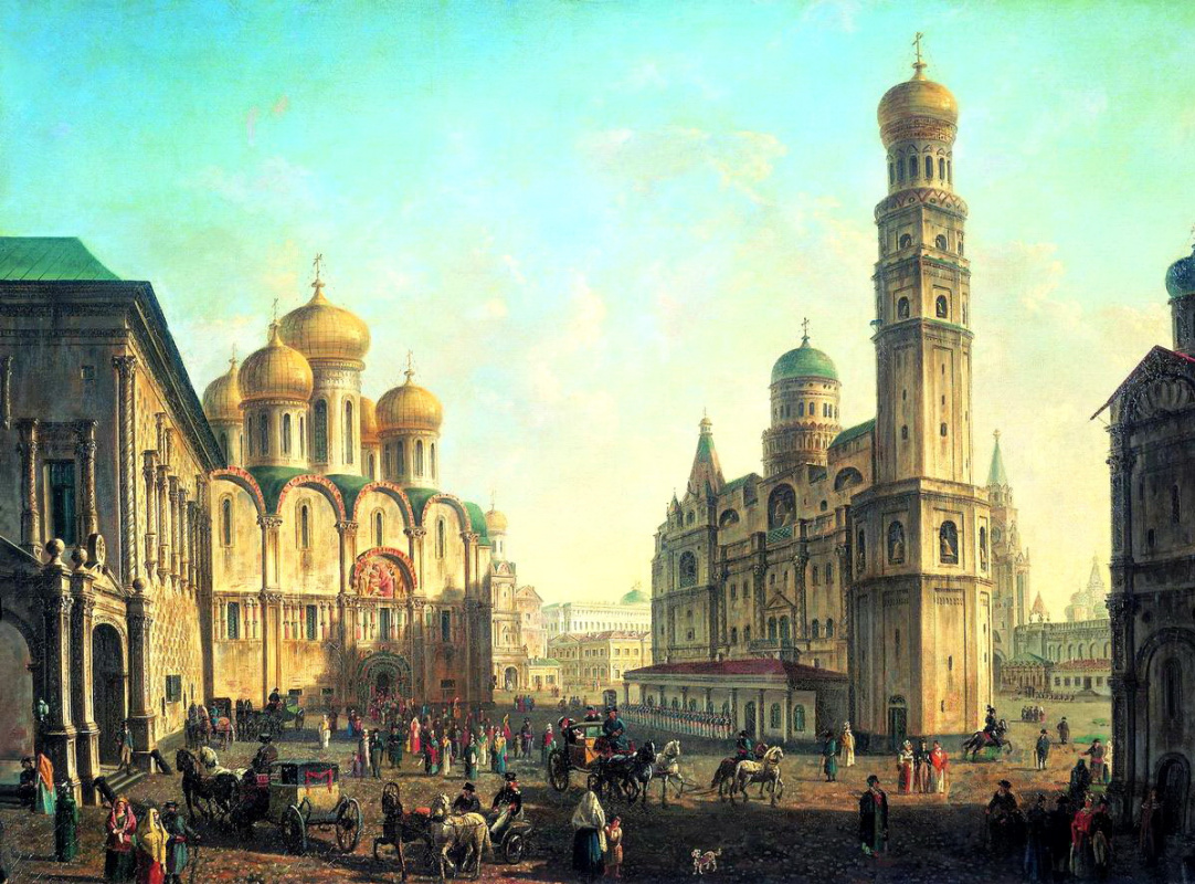 Fedor Yakovlevich Alekseev. Cathedral square in the Moscow Kremlin