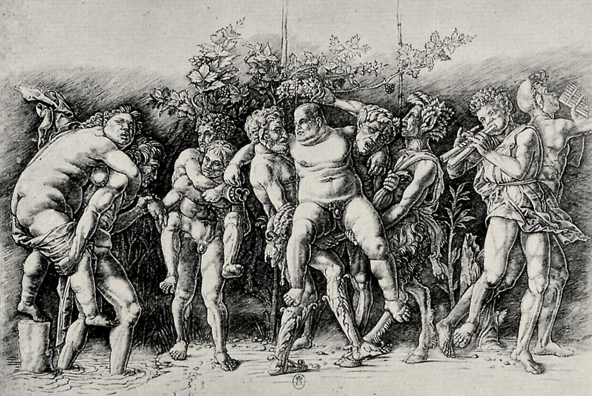 Andrea Mantegna. Bacchanal with Silenus