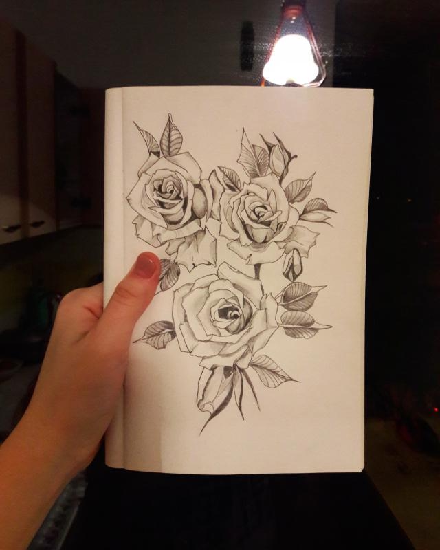Нейла Талгатовна Кирашова. Rose tattoo