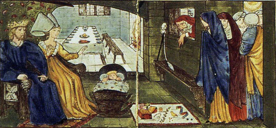Sleeping Beauty (Together with Edward Burne-Jones). Panel 1