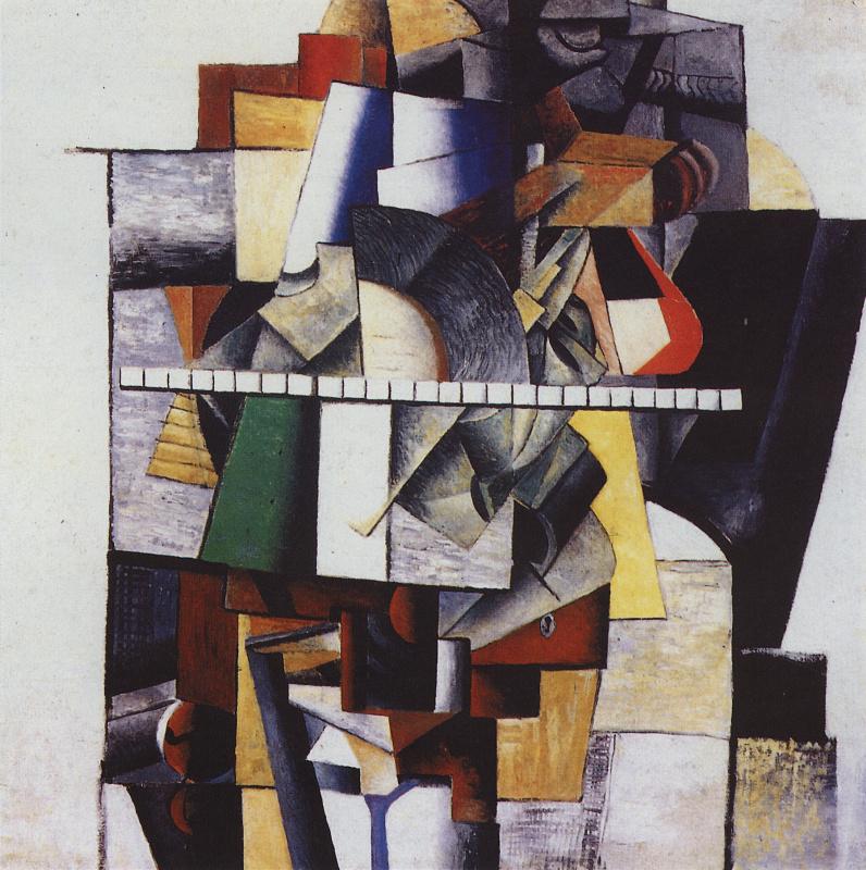 Казимир Северинович Малевич Россия 1879 -1935. Портрет М. В. Матюшина. 1913