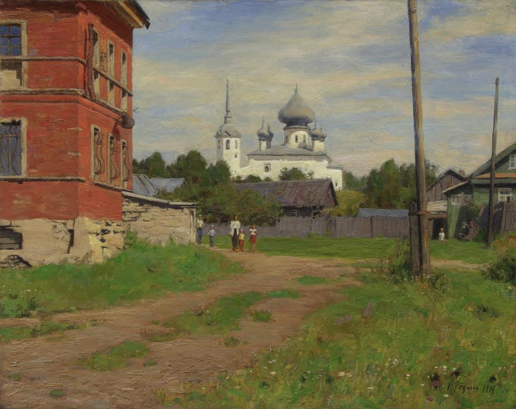 Фёдор Борисович Фёдоров. Near the Old Ladoga Museum. View of the Church of John the Baptist