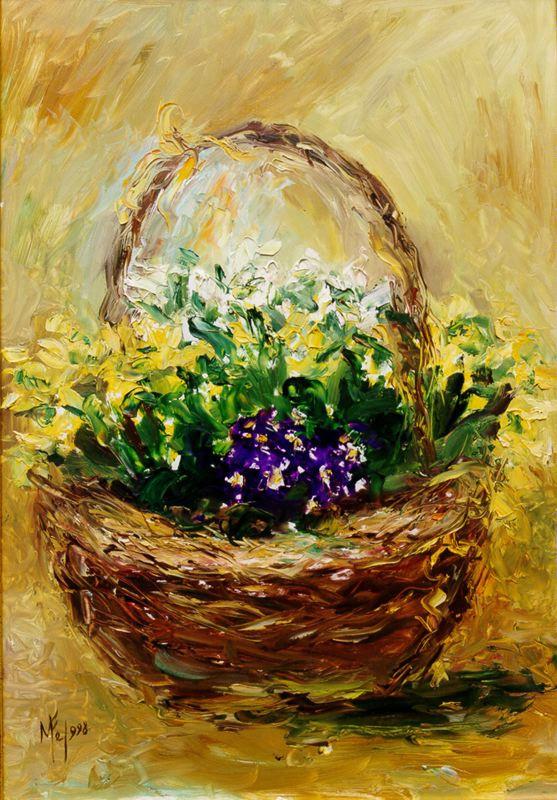 Мари Ромеро Кампо. Корзина с цветами