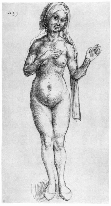 Albrecht Durer. Naked woman