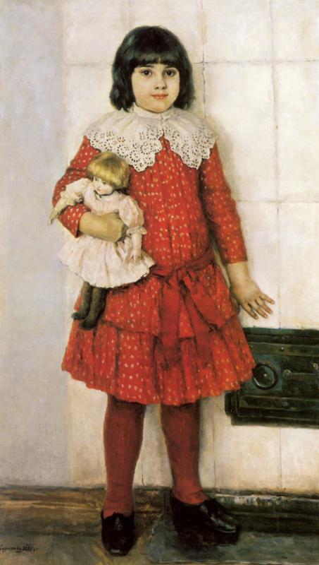 Vasily Ivanovich Surikov. Portrait of Olga Vasilievna Surikova, daughter of the artist, childhood