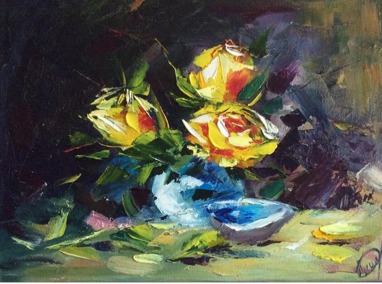 Julia Gennadievna Pinyaeva. Roses