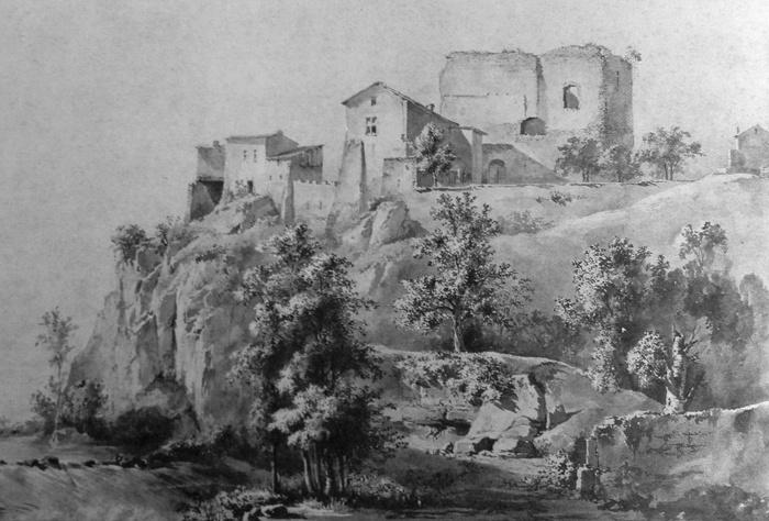 Жан-Жак де Буассье. Пейзаж со строениями