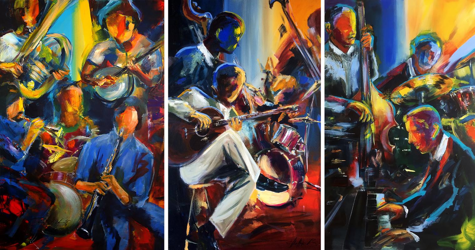 Robert Hettich. Jazzclub Triptych