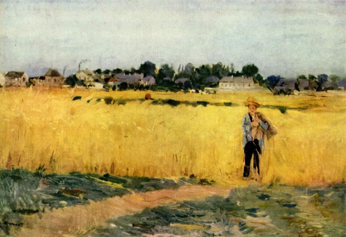 Берта Моризо. Пшеничное поле