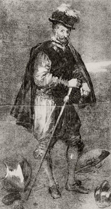 Франсиско Гойя. Портрет Дона Хуана Австрийского, с Веласкеса