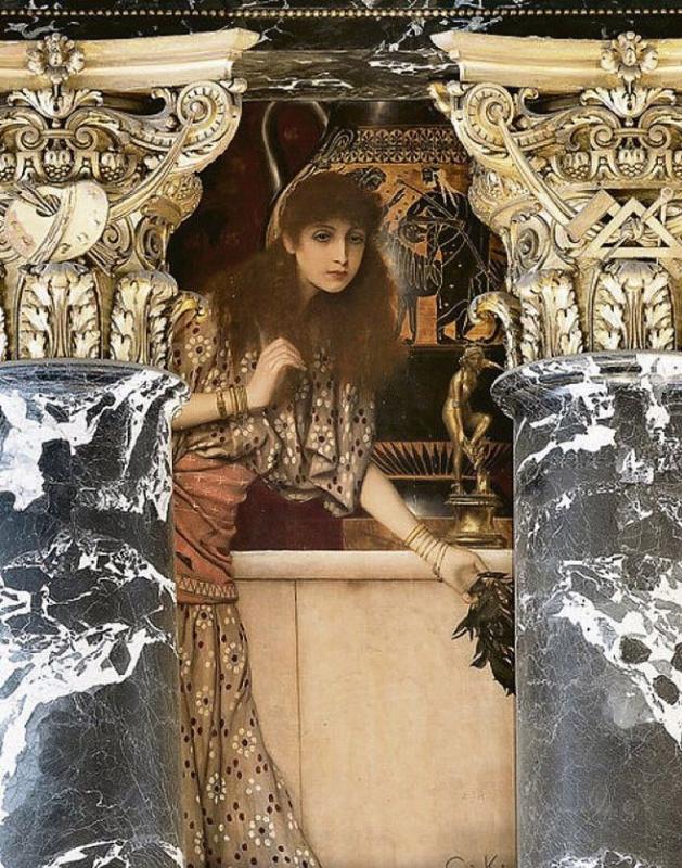 Древняя Греция. Девушка из Танагре (Роспись для музея истории искусств, Вена)