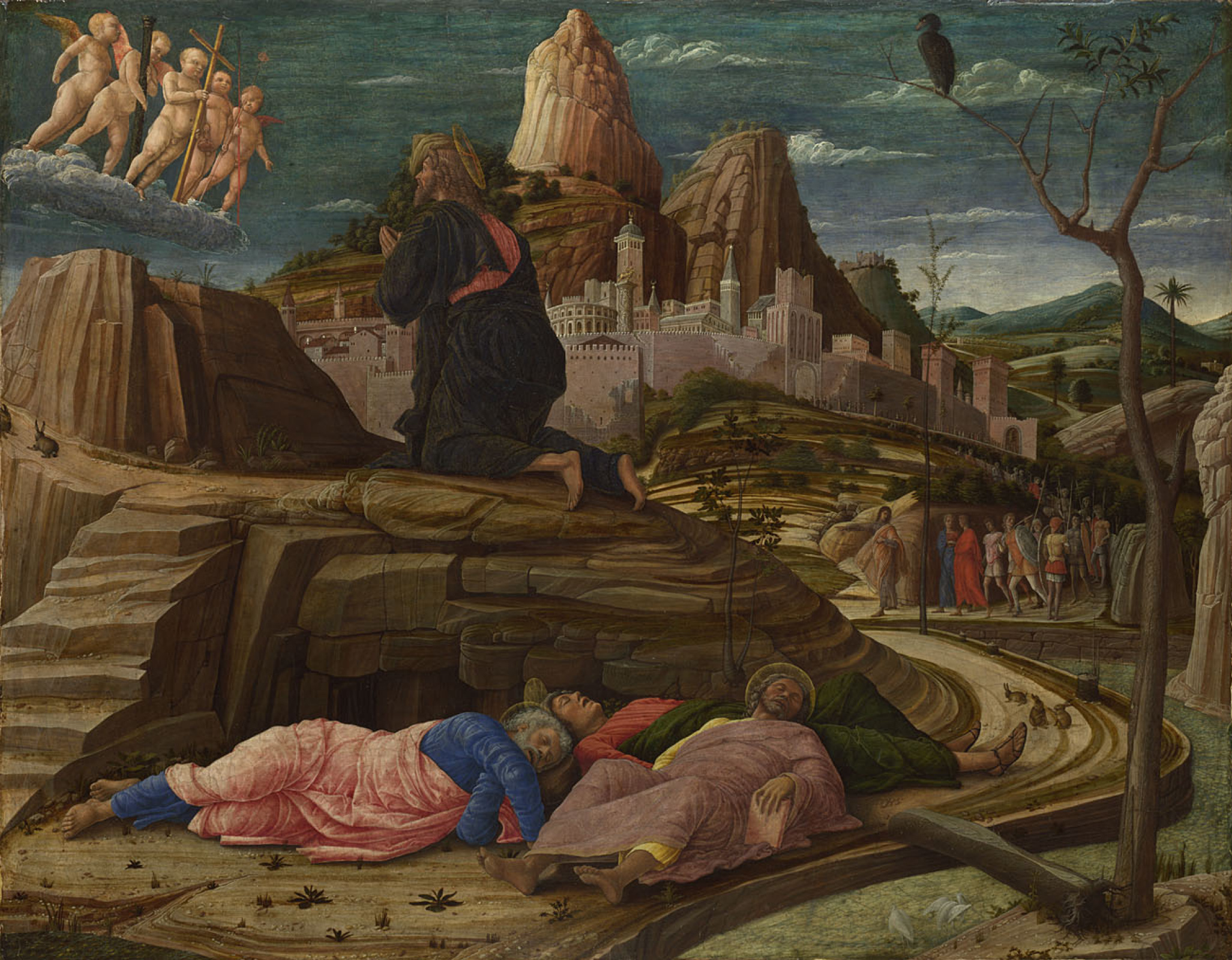Андреа Мантенья. Моление о чаше (Христос на горе Елеонской)