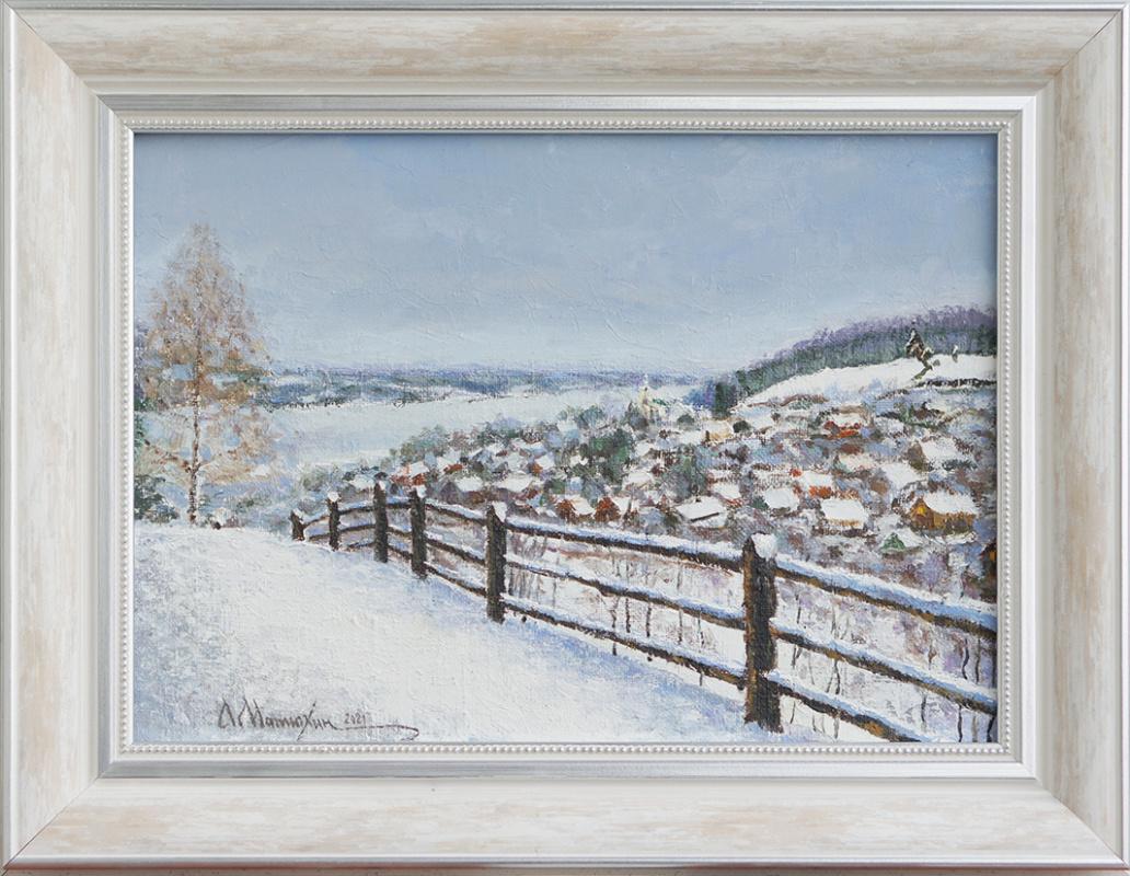 Alexander Matyukhin. 2021. Plyos (oil on canvas 25x35 cm) sketch