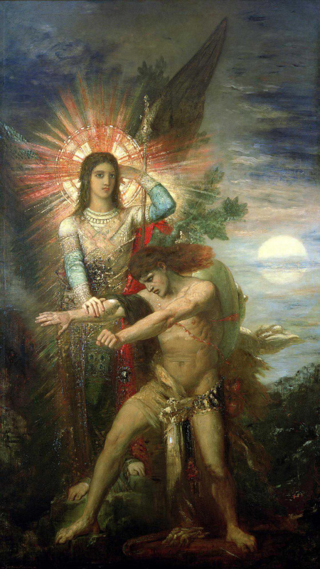 Gustave Moreau. Jacob and angel
