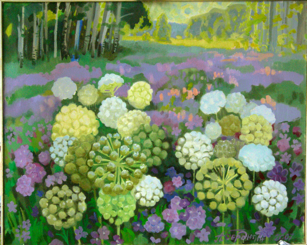 Alexander Trofimovich Berdyugin. Flourished in the fields of geranium