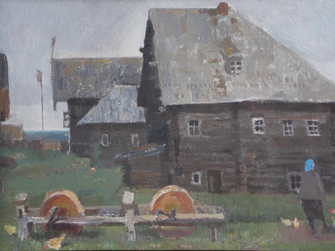 Anatoly Alekseevich Bolkhontsev. North Village. Sharpened