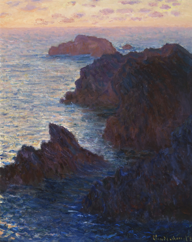 Claude Monet. The rocks at Belle-Ile, Port-Domoy