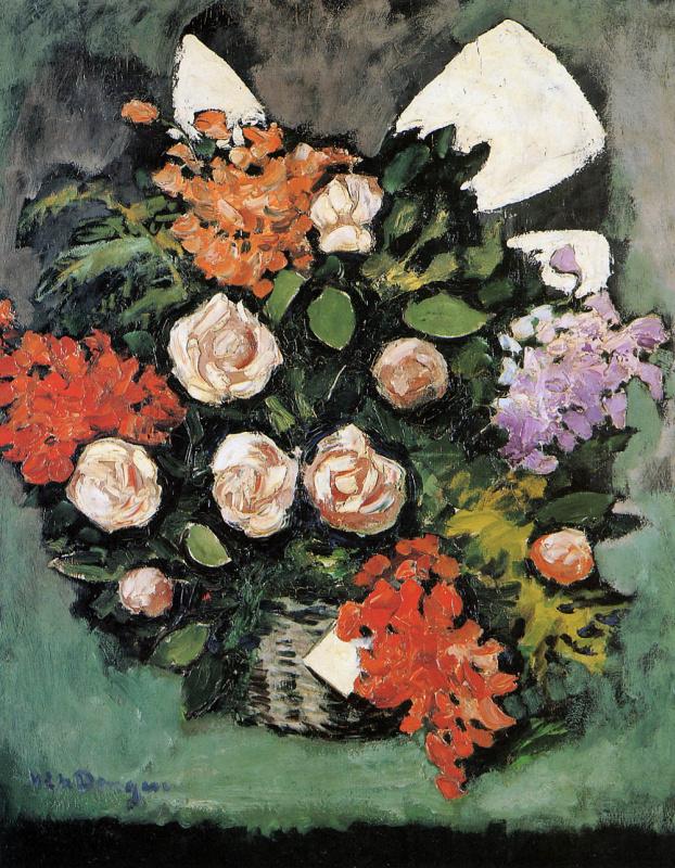 Ван Донген. Натюрморт с цветами