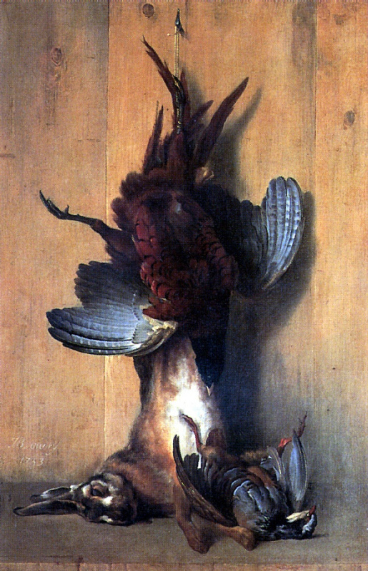 Жан-Батист Удри. Натюрморт с фазаном
