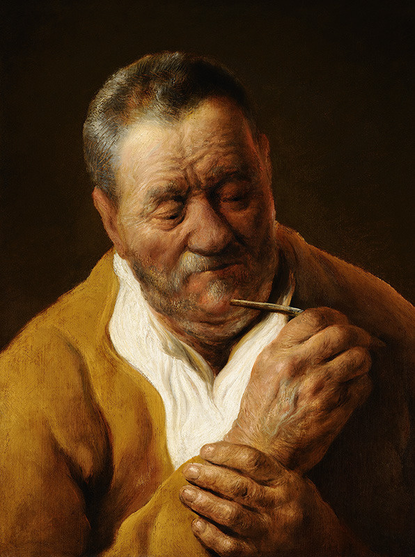 Jan Lievens. Man with a pipe