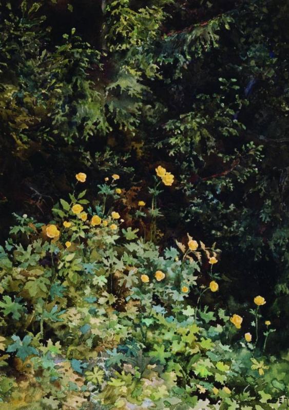 Елена Дмитриевна Поленова. Желтые цветы