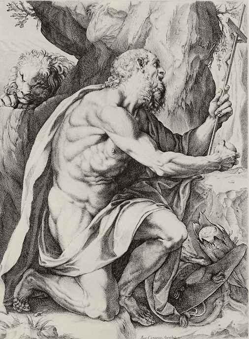 Агостино Карраччи. Святой Иероним