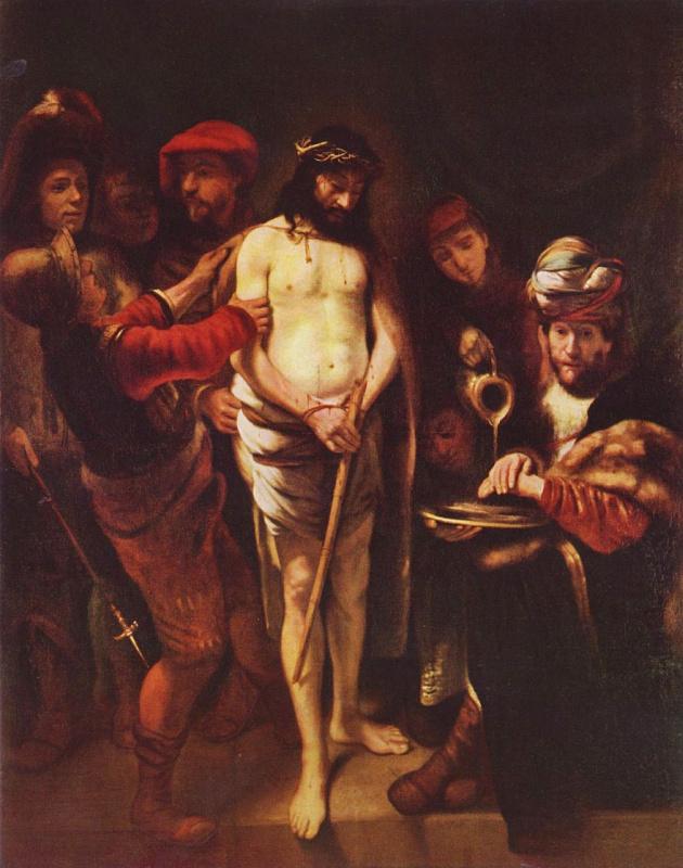Николаес Маэс. Христос перед Пилатом