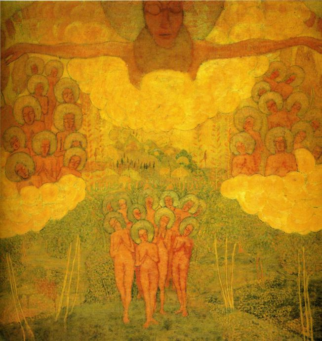 Kazimir Malevich. Sketch of fresco painting. The triumph of the sky