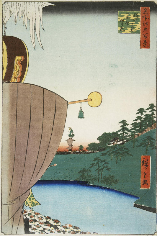 Utagawa Hiroshige. The procession on the feast of the Sledge in the district of Kojimachi, on the street, Ettema