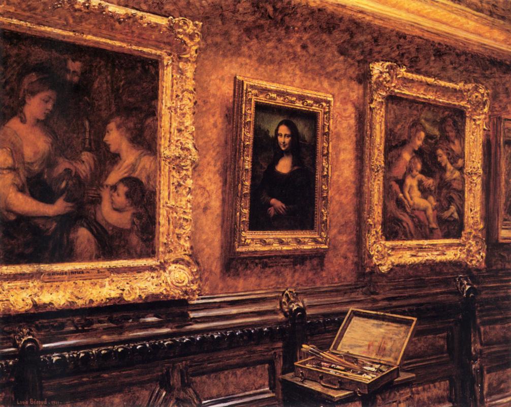 Луи Бероуд. Мона Лиза в Лувре