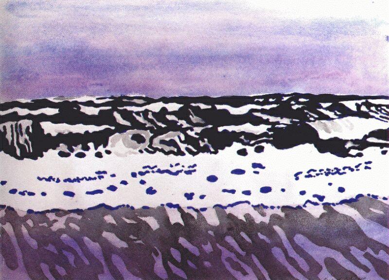 Fairfield Porter. Sea landscape