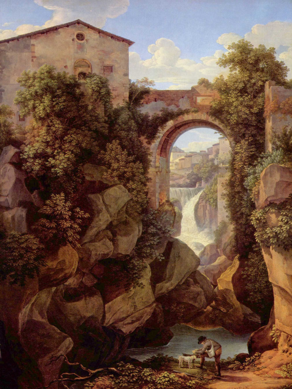 Иоганн Кристиан Райнхарт. Вид на Тиволи