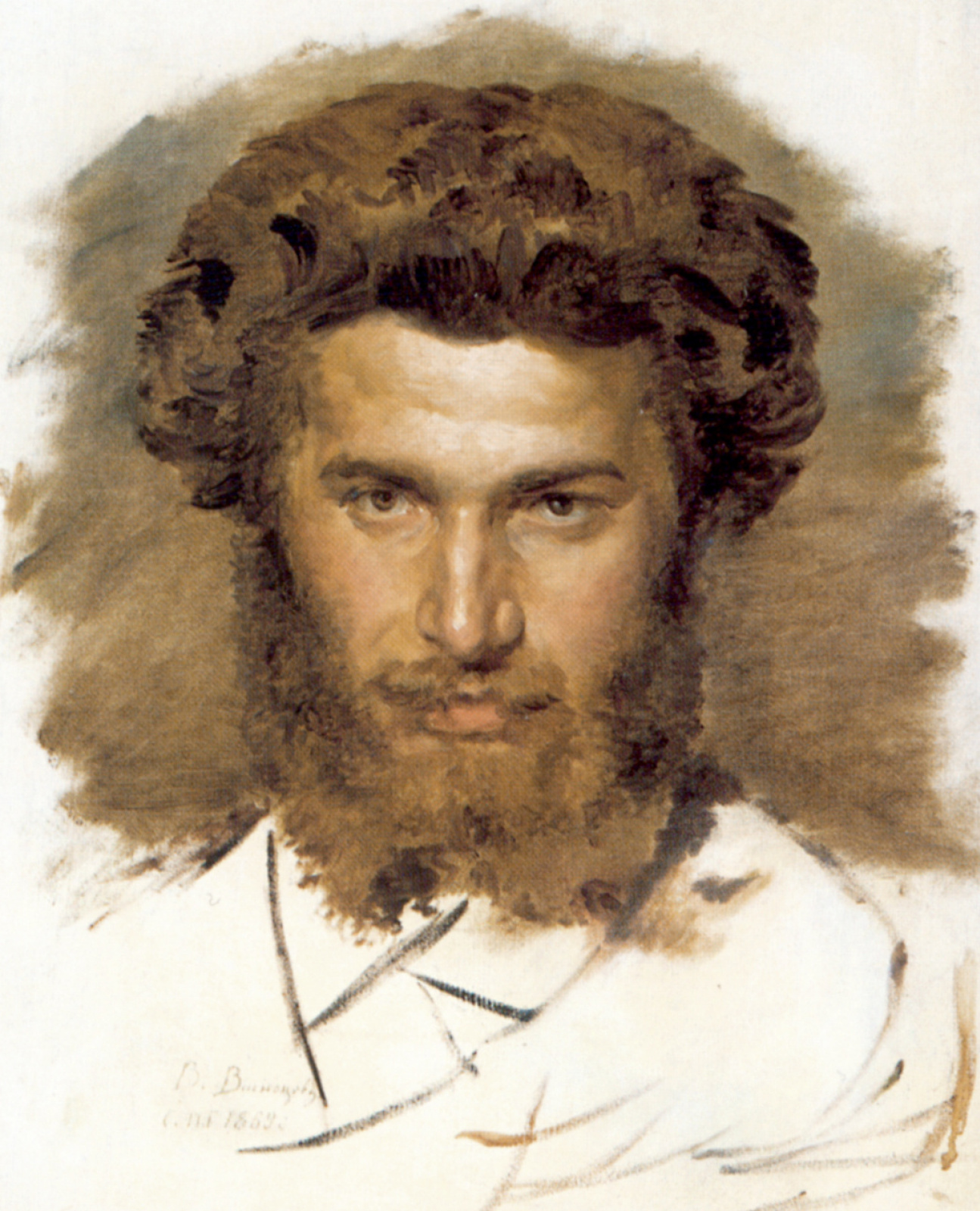 Виктор Михайлович Васнецов. Портрет художника Архипа Ивановича Куинджи