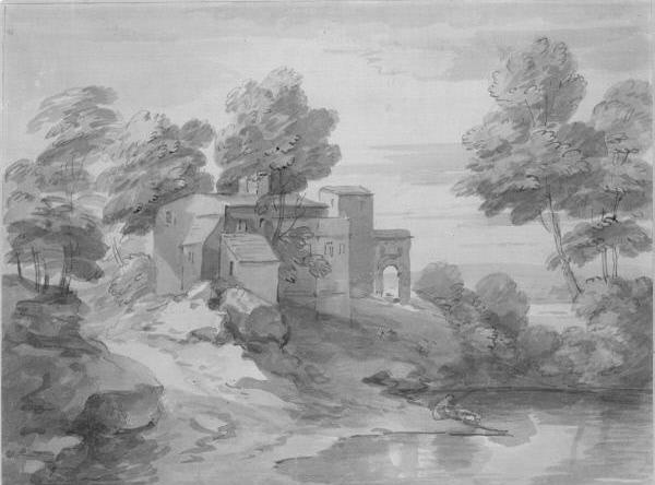 Thomas Gainsborough. House by the pond