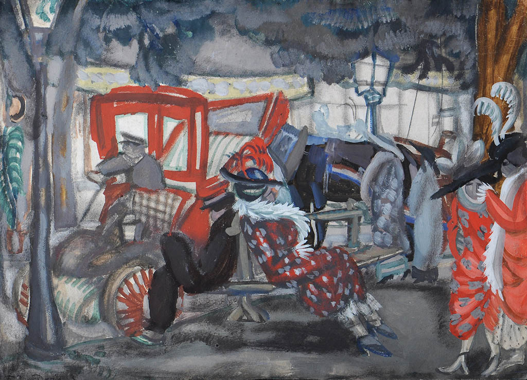 Борис Дмитриевич Григорьев. Улица в Париже