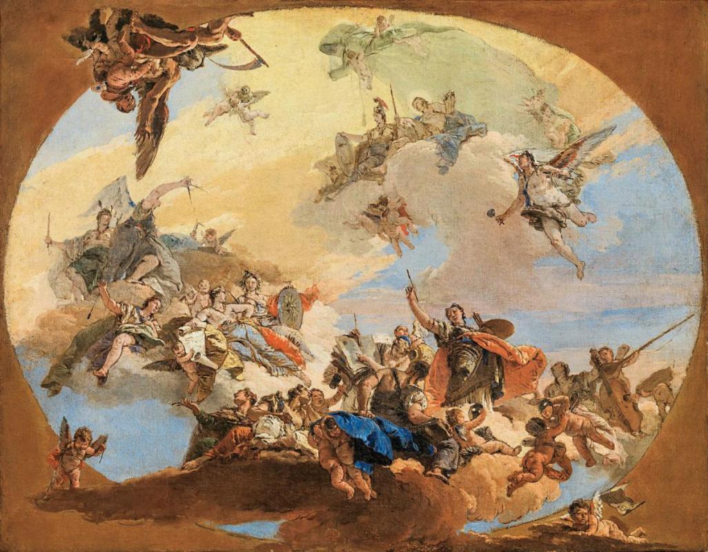 Giovanni Battista Tiepolo. The Triumph of Arts and Sciences