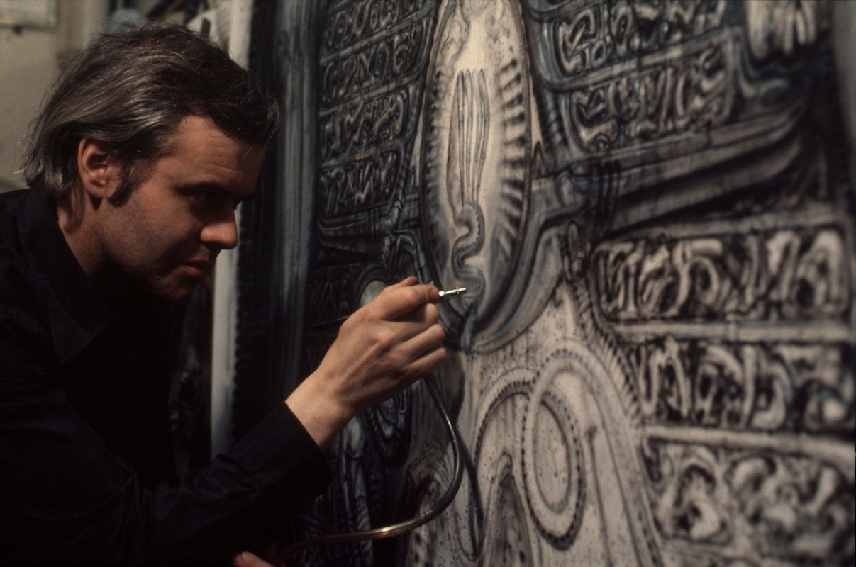 Hans Rudolph Giger. Giger at work